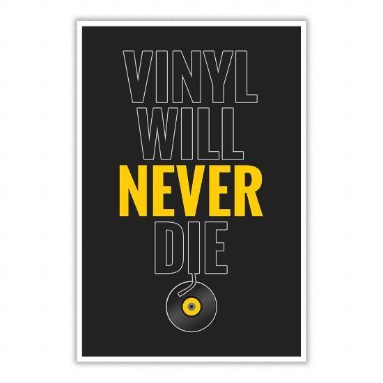 Cool Vinyl Will Never Die Poster T Shirts Vinyl Poster Wall Art Xmas Shirts
