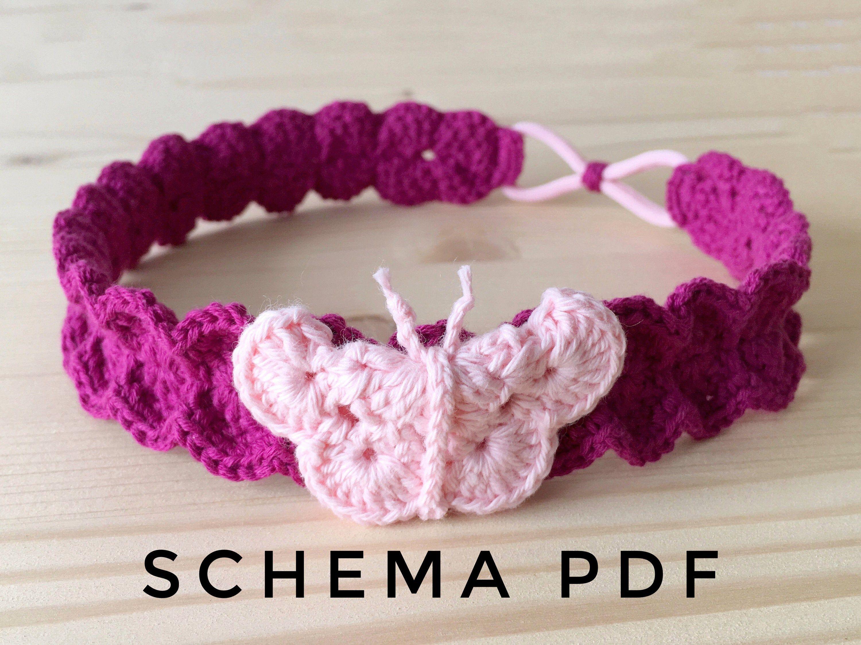 Accessori Uncinetto Schemi.Crochet Pattern Schema Uncinetto Schema Fascia Capelli Fascia
