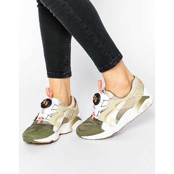 67875a261ebd Puma Disc Blaze Coastal Trainers ( 140) ❤ liked on Polyvore featuring  shoes