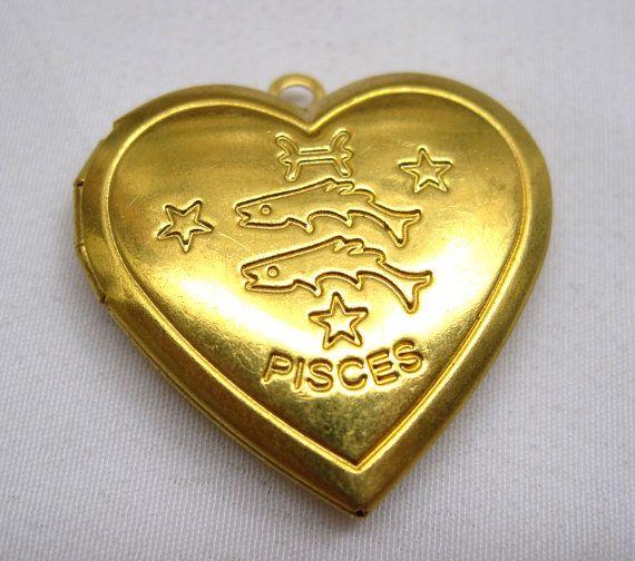 1pc vissen Zodiac hart foto medaillon ketting hangertje door tsrose