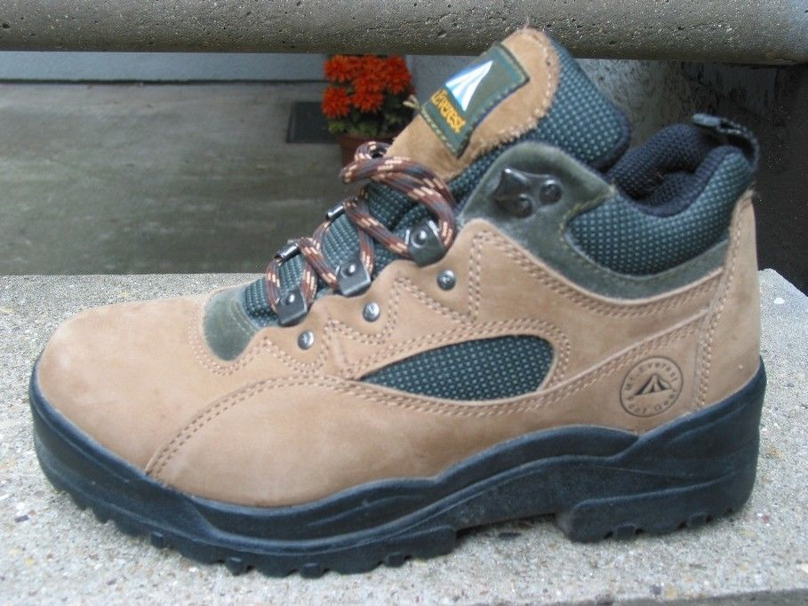 7c0d82698234a Womens Tan Green Mt. Everest Yellowstone Trail Boots Oxfords Size 6.5  #MtEverest #HikingTrail