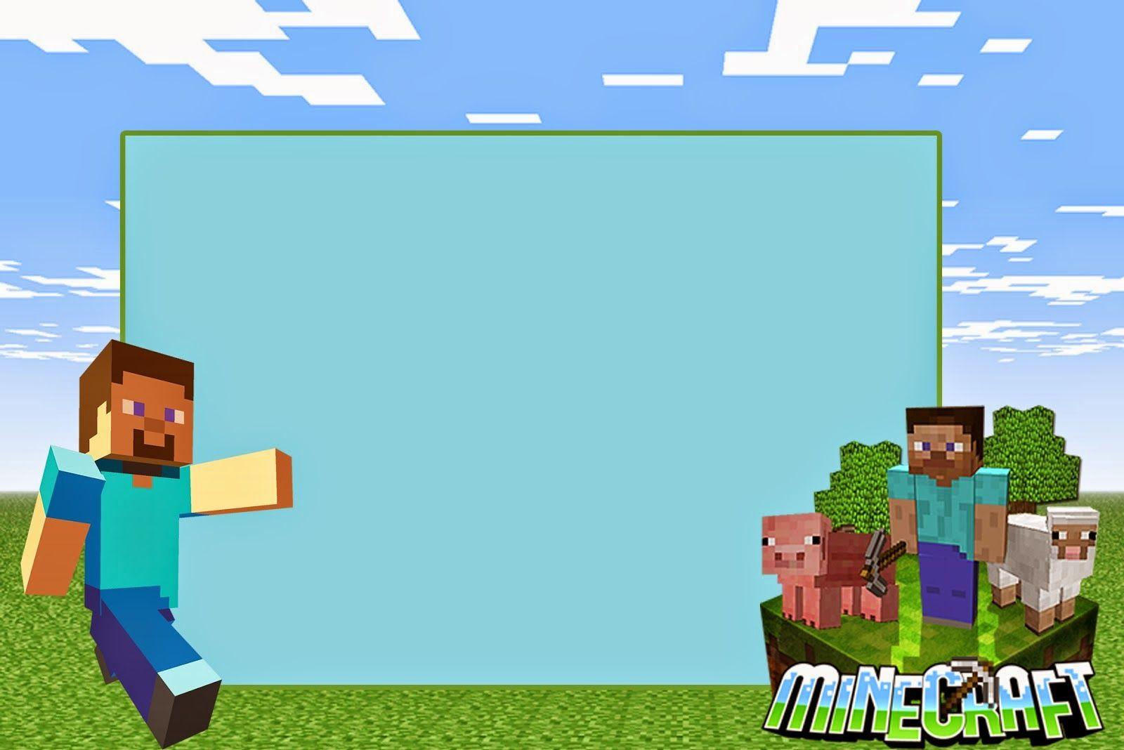 Minecraft Free Printable Invitations Party Ideas Pinterest - Video game birthday invitation template