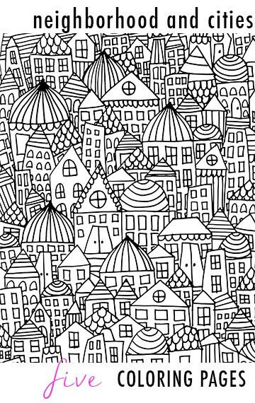 Neighborhood And Cities 5 Coloring Pages Coloring Pages Coloring Book Pages Coloring Books