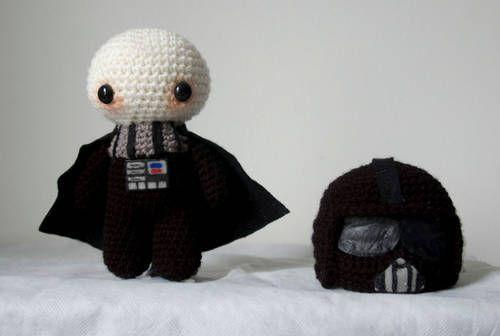Crochet Darth Vader With Removable Helmet Oh My Gosh 3 Diy
