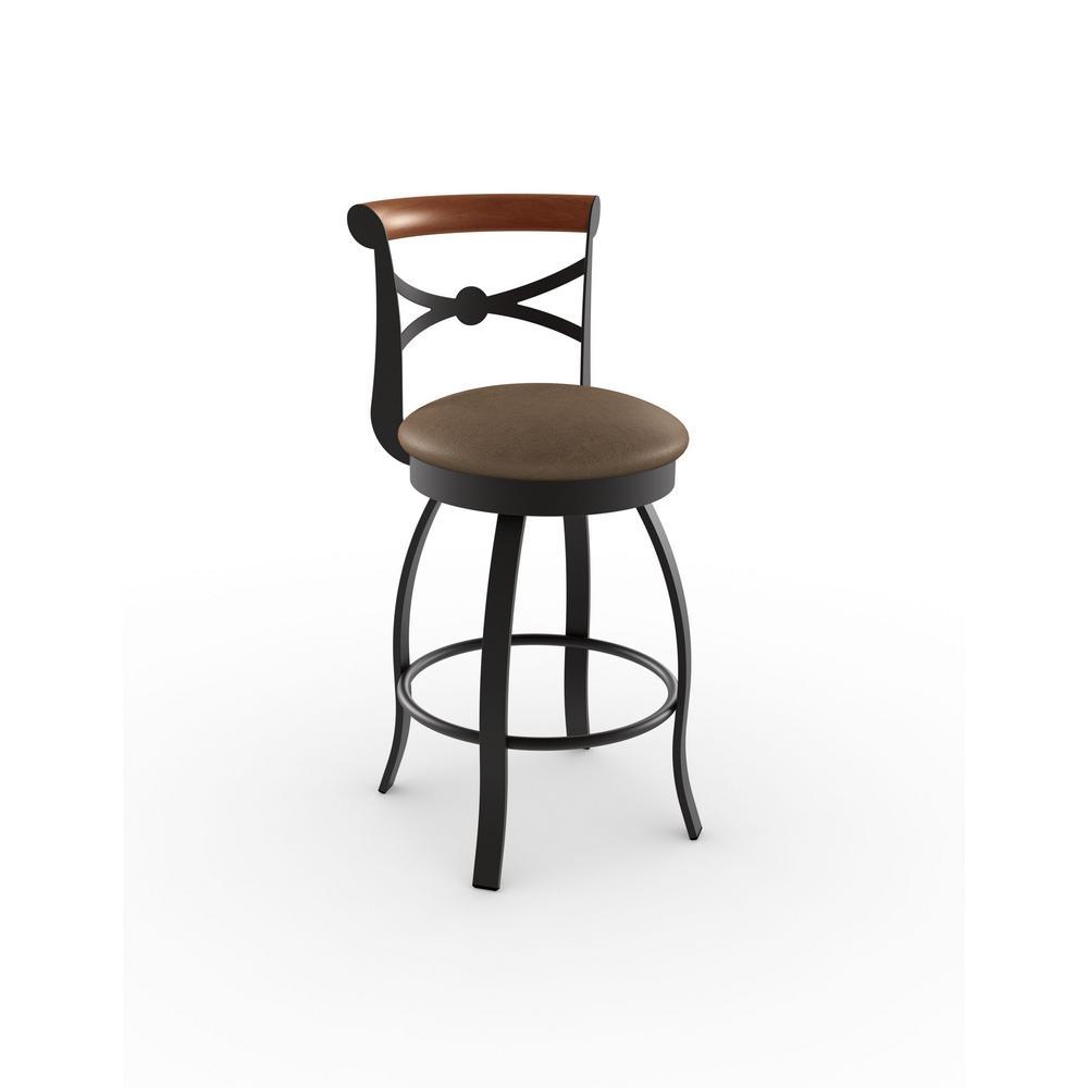 Amisco Bourbon 26 In Textured Dark Brown Metal Medium Brown