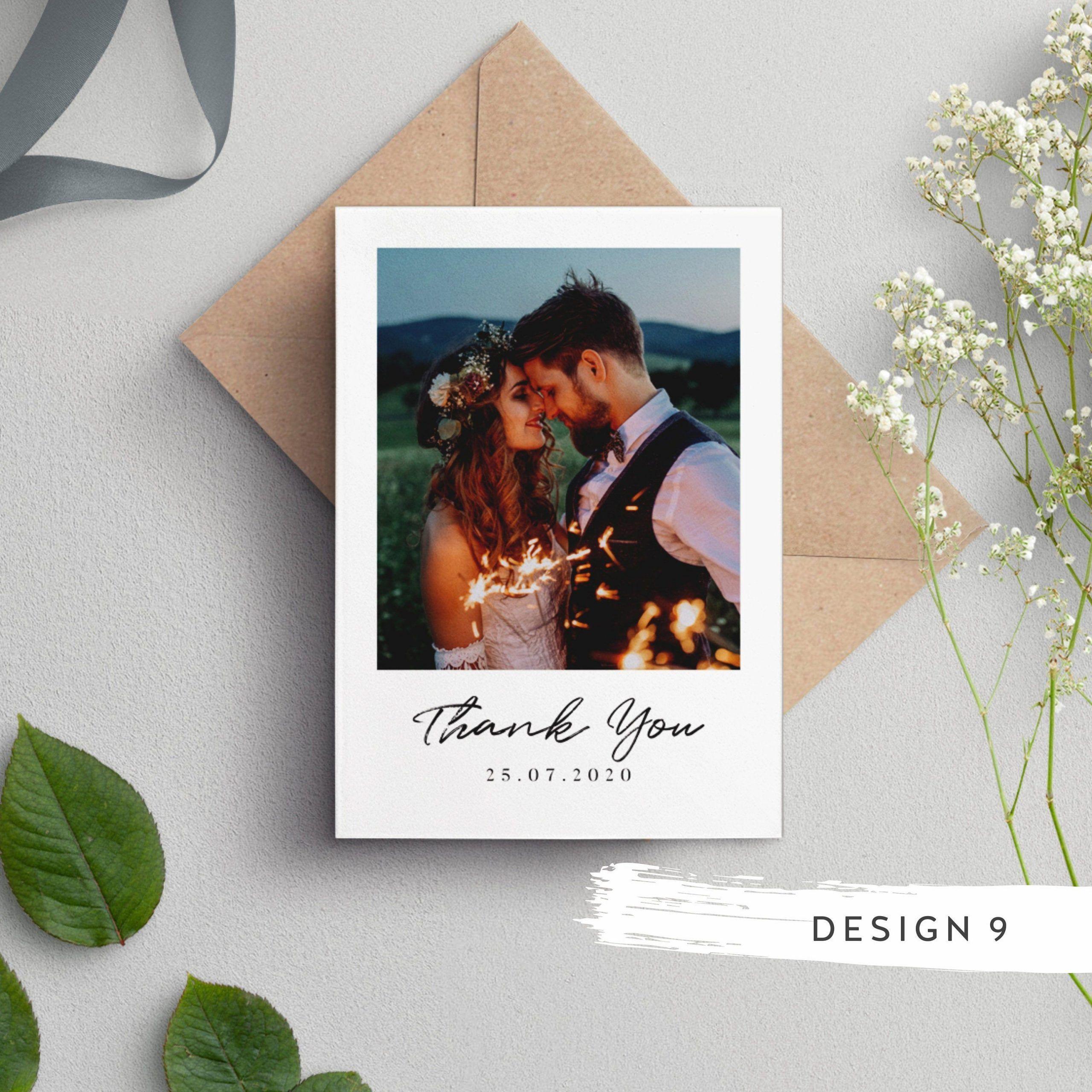 Wedding Thank You Cards, Wedding Thank You Cards With Photo, Thank You Cards, Personalised Wedding Thank You Card, Wedding Picture Card #087#card #cards #personalised #photo #picture #wedding