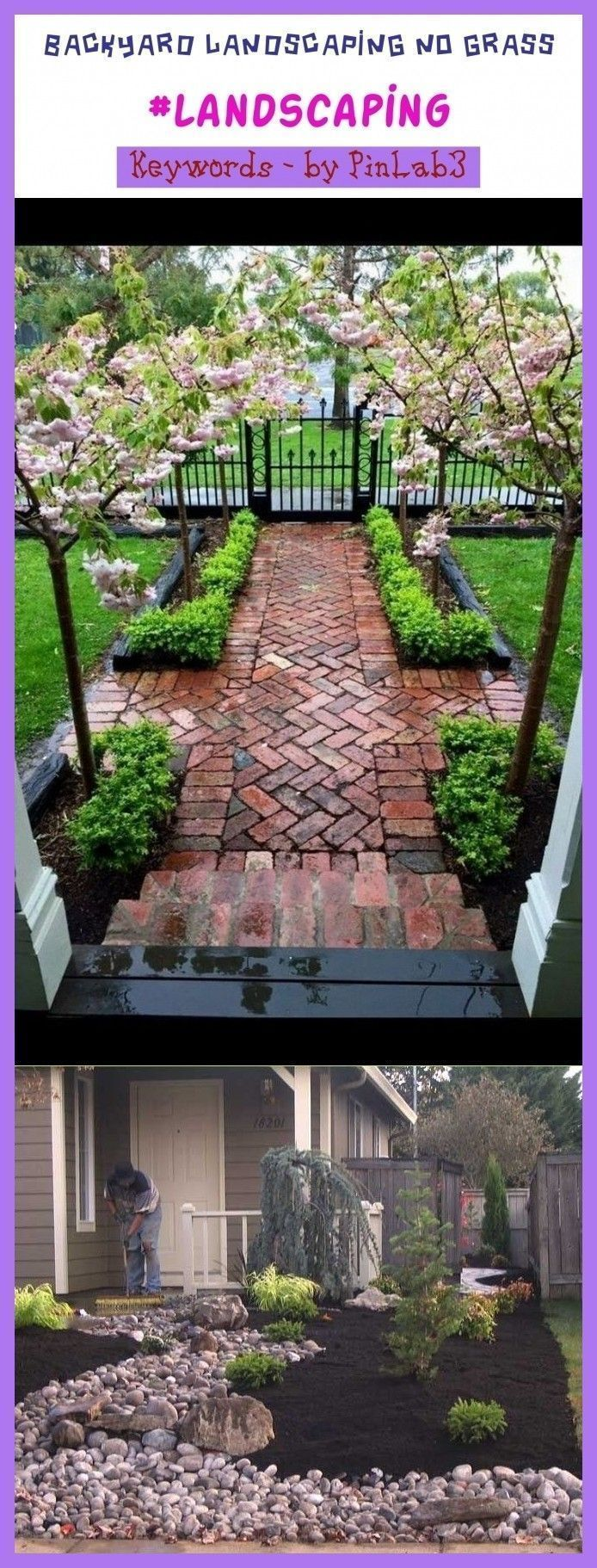 Backyard landscaping no grass #backyard #landscaping # ...