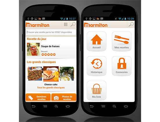 Marmiton Android Mobile UI Design Inspiration | Mobile Design ...