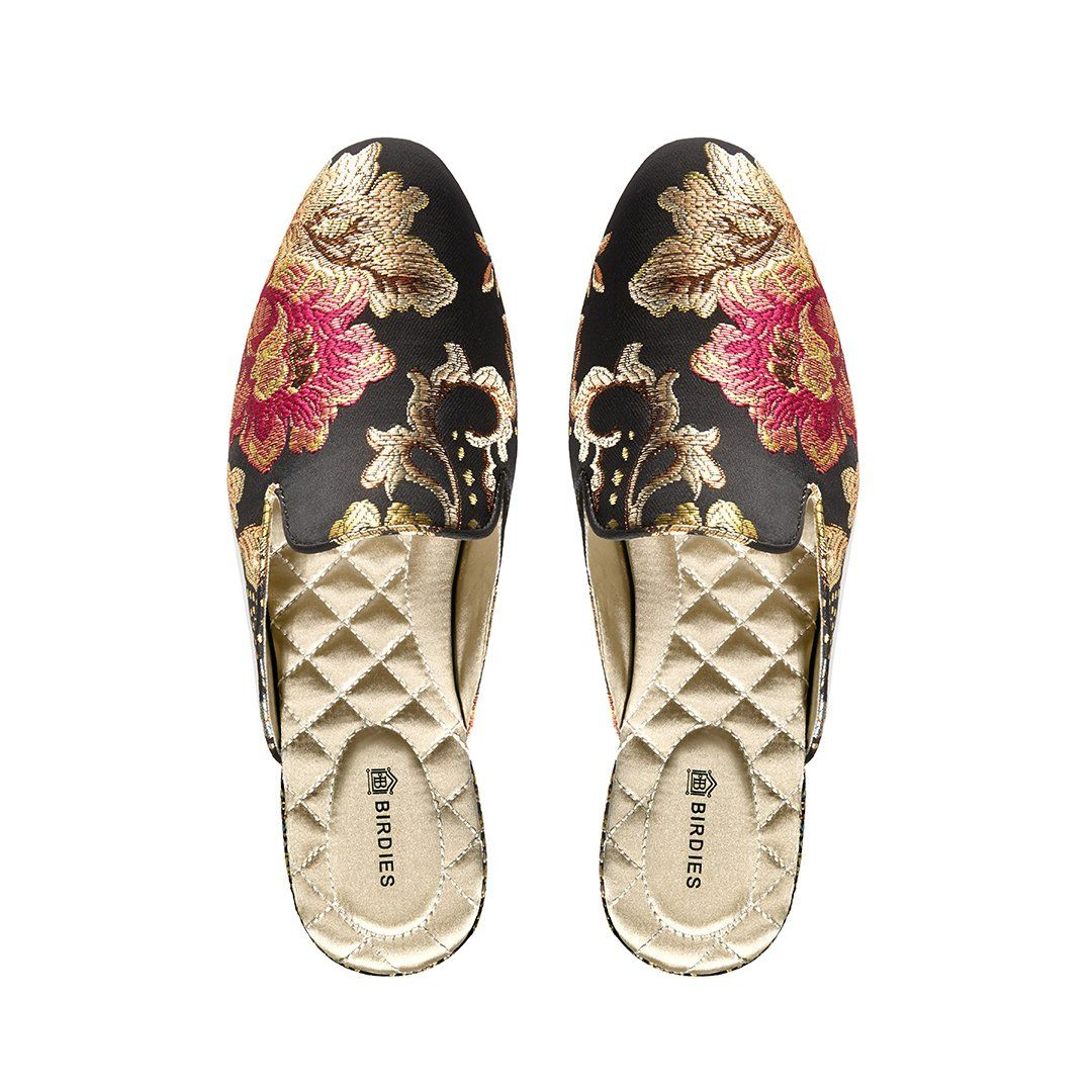 The Phoebe Floral Jacquard Comfort Shoes Women Women Slides Slippers