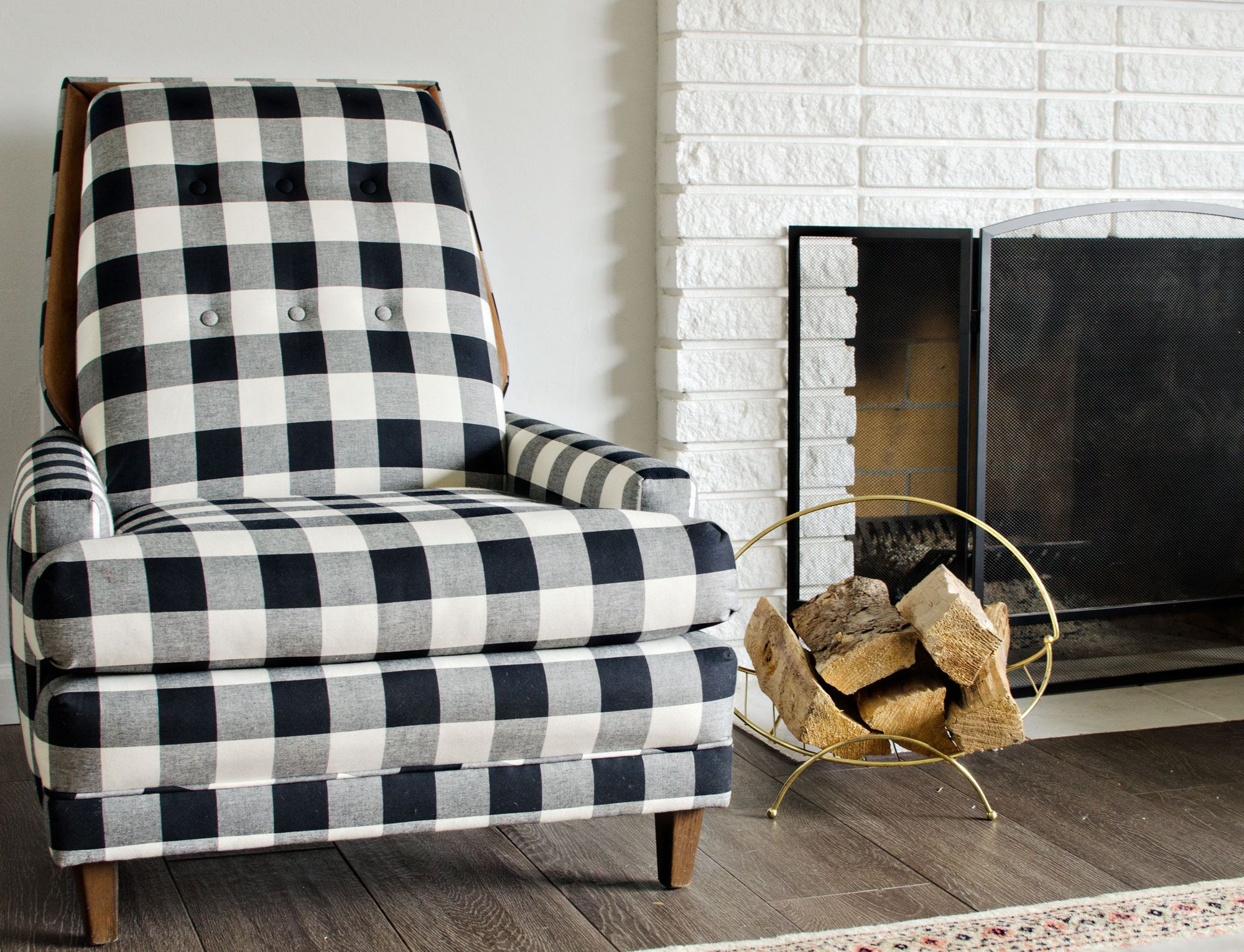Best Black White Buffalo Check Chairs Buffalo Check Chair 400 x 300