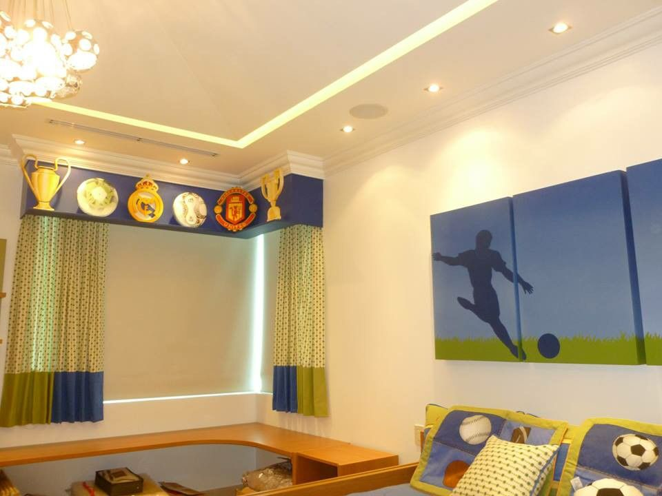 Decoracion de futbol para habitacion de niño | La habitación de los ...