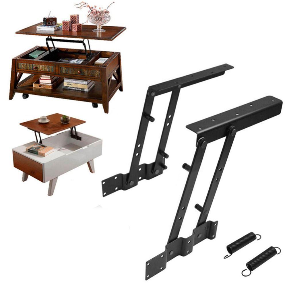 1Pair Multi Functional Lift Up Top Coffee Table Lifting Frame Mechanism  Spring Hinge Hardware In