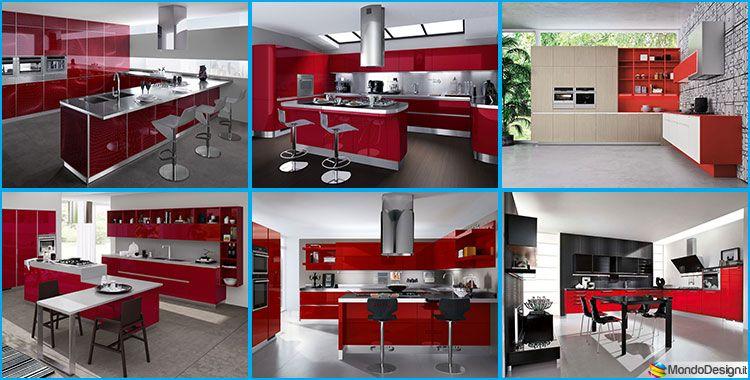 30 Modelli di Cucine Rosse dal Design Moderno | Cucina rossa ...