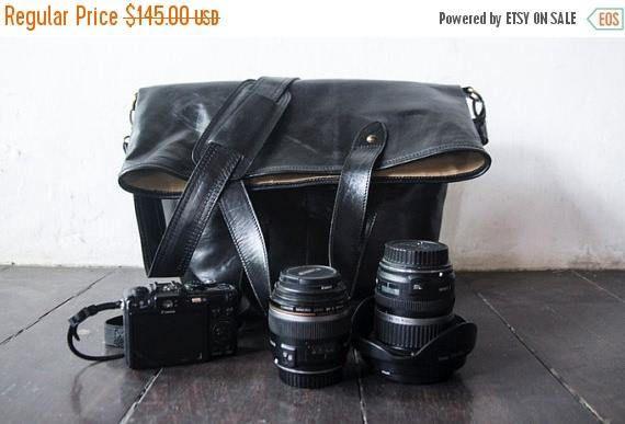 SUMMER SALES Dslr Fold Over Camera Bag with Insert  genuine