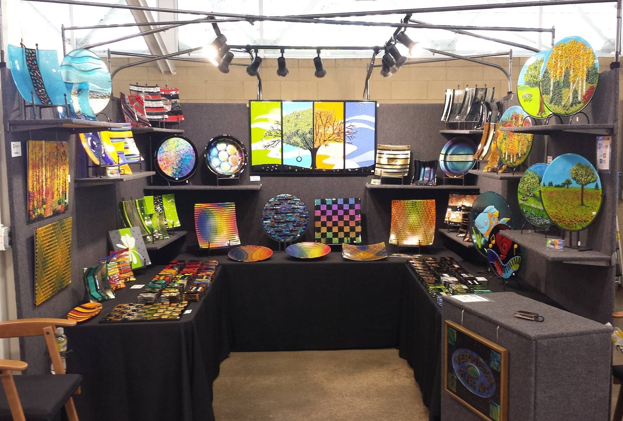 Vermeer Glass Art Show Booths Fused