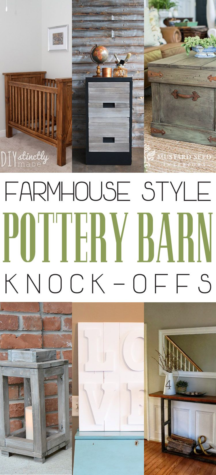 Farmhouse Style Pottery Barn Knockoffs Pottery barn