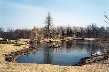 Earth Pond Fishing Swimming Irrigation Pond Landscaping Natural Swimming Ponds Ponds Backyard