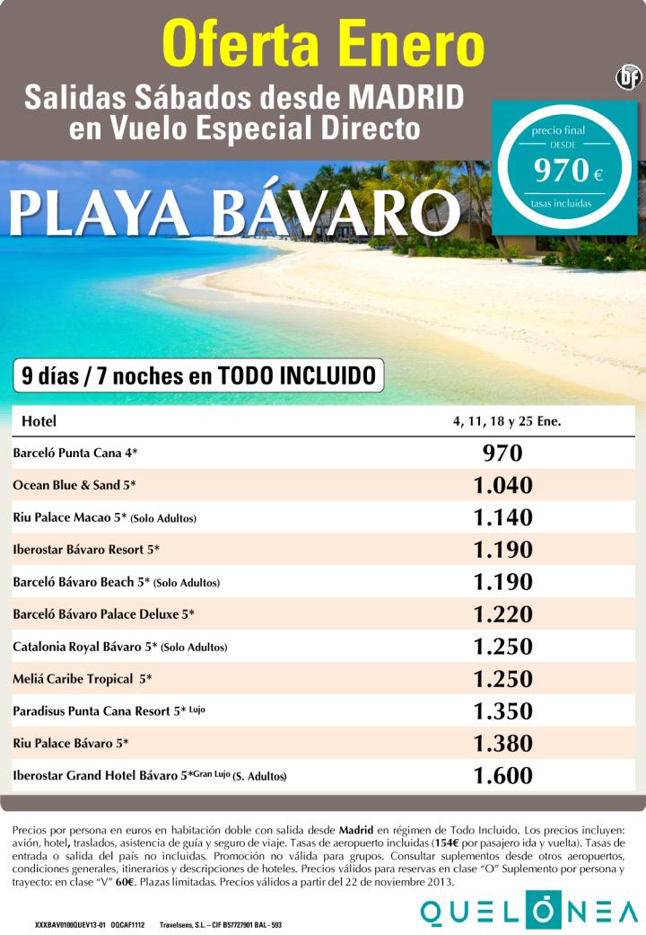 Oferta Enero Playa Bávaro 7 noches desde 970€ Tasas incluidas. Salidas Sábados 4, 11, 18 y 25 ultimo minuto - http://zocotours.com/oferta-enero-playa-bavaro-7-noches-desde-970e-tasas-incluidas-salidas-sabados-4-11-18-y-25-ultimo-minuto/