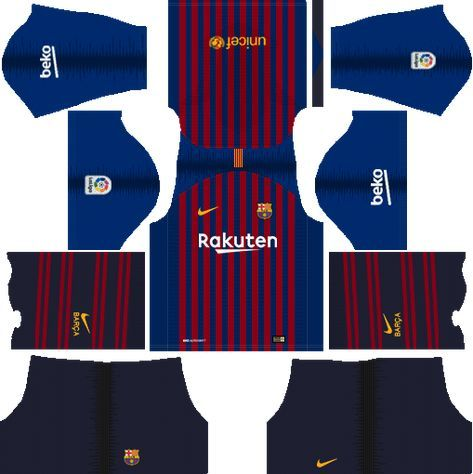 Dream League Soccer Kits Barcelona 2018 19 Kit 512x512 Url Soccer League Barcelona Team Soccer Kits