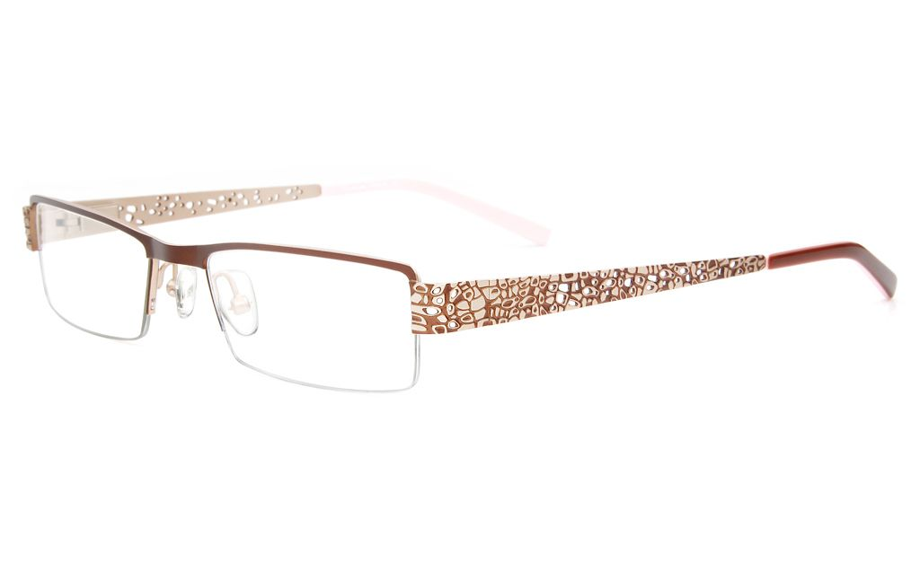 305fcf8ce82d6 Ray-Ban RB8404 Stainless steel Mens Square Rimless Optical Glasses(Gun(2502))