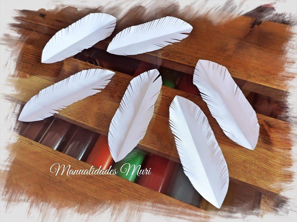Manualidades como hacer plumas de papel manualidades - Manualidades con plumas ...