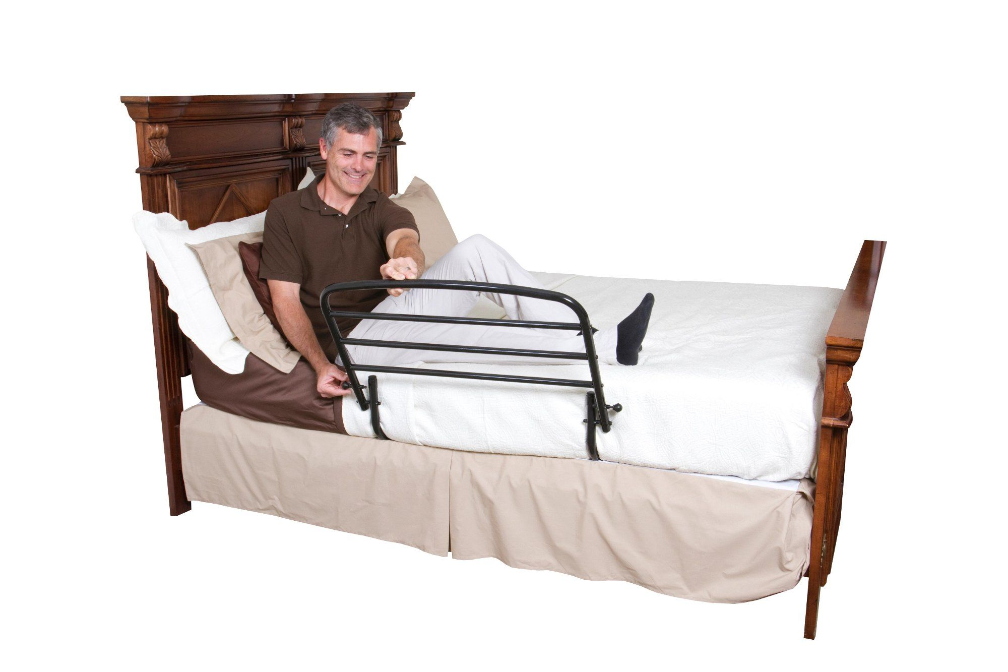Black Safety Bed Rail (30 Inch) Rails Collection