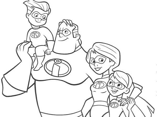 the incredibles family coloring pages the incredibles coloring pages kidsdrawing free coloring pages online