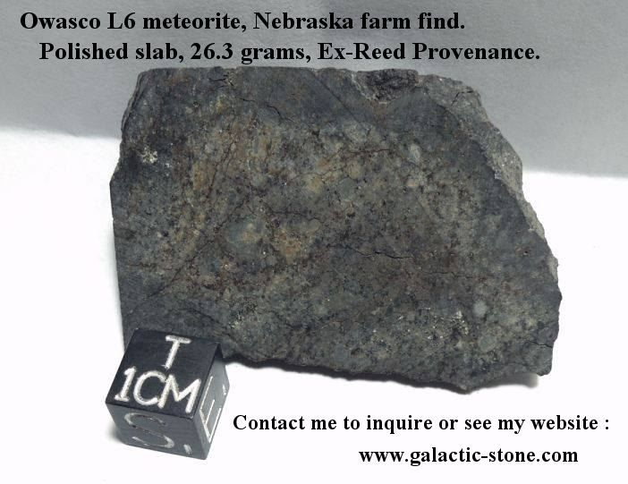 Owasco Nebraska Farm Meteorite available at Galactic Stone and Ironworks
