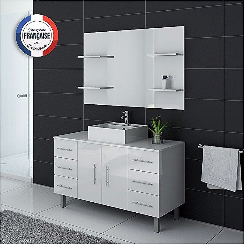 Ensemble Meuble Vasque Meuble De Salle De Bain Simple Vasque Sur Pieds Turin Blanc Distribain Locker Storage Bathroom Sets Storage