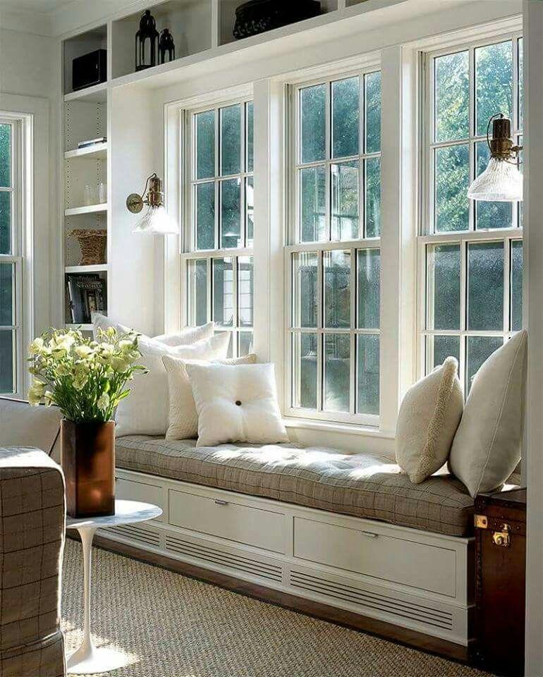 Pinvirgiymati On Sala Estudio  Pinterest  Living Rooms Extraordinary Living Room Bay Window Designs 2018