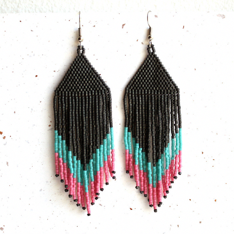 Photo of beaded hoop earrings diy #BeadedEarrings