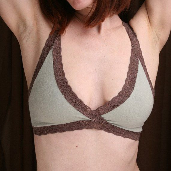 9e0f7a2c38a6e Organic Cotton Bra - Sage  Summersweet  Bralette - Women s Lingerie Made To  Order