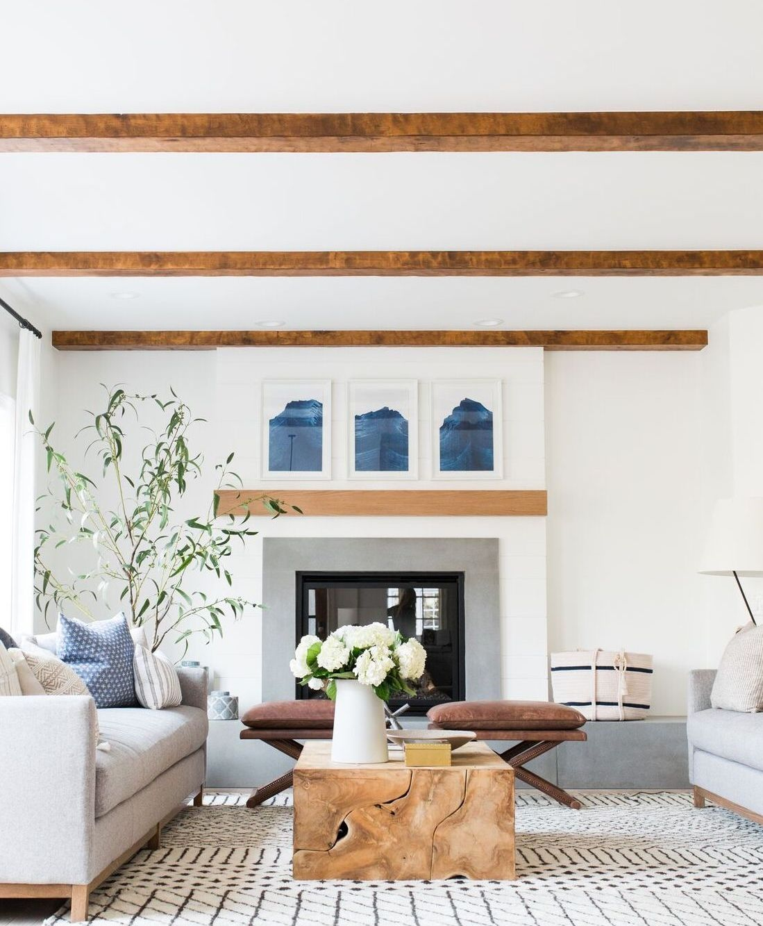 Small Eclectic Living Rooms: Riverbottoms Remodel: Living Room Reveal