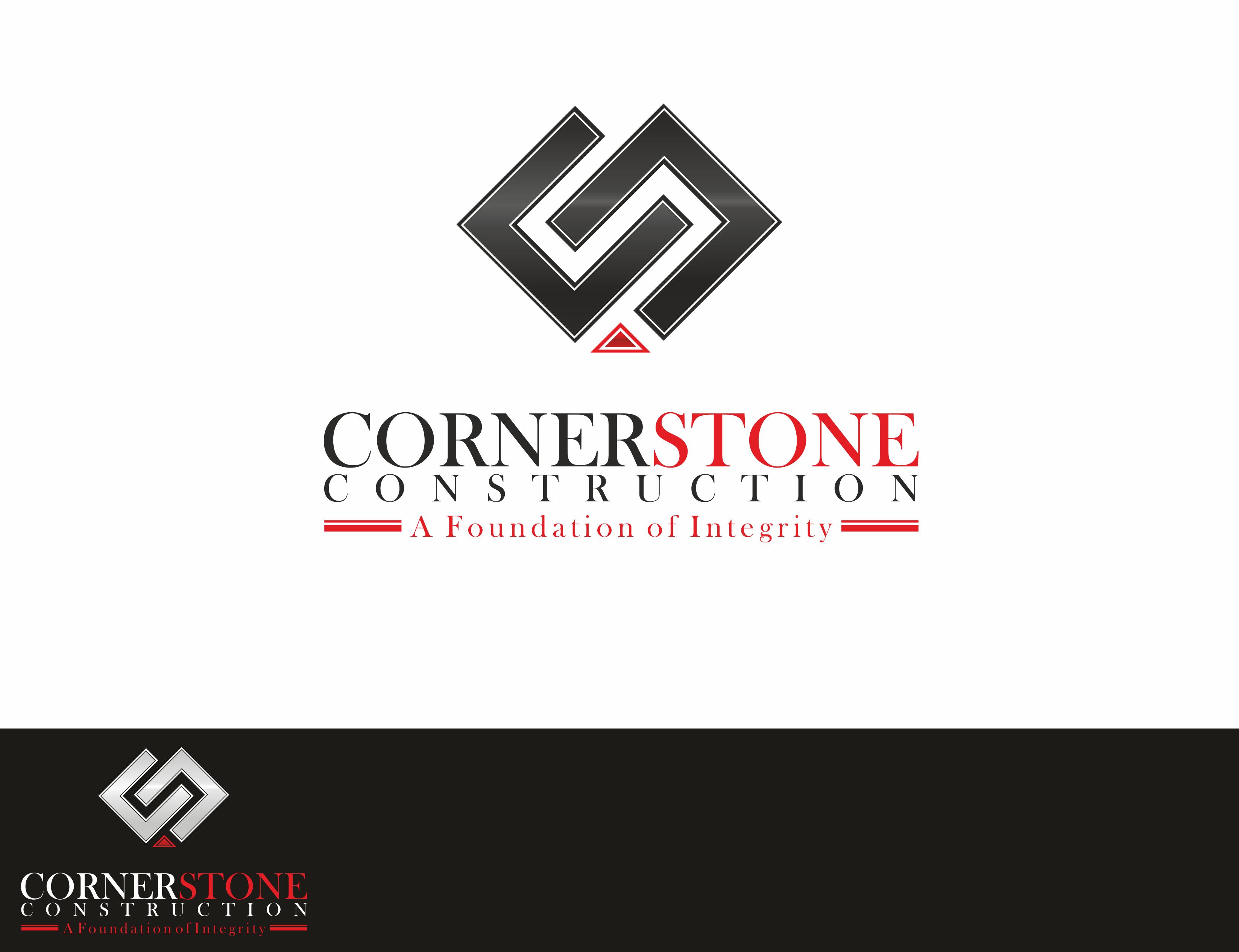 Logo Design 128 'Cornerstone Construction' design