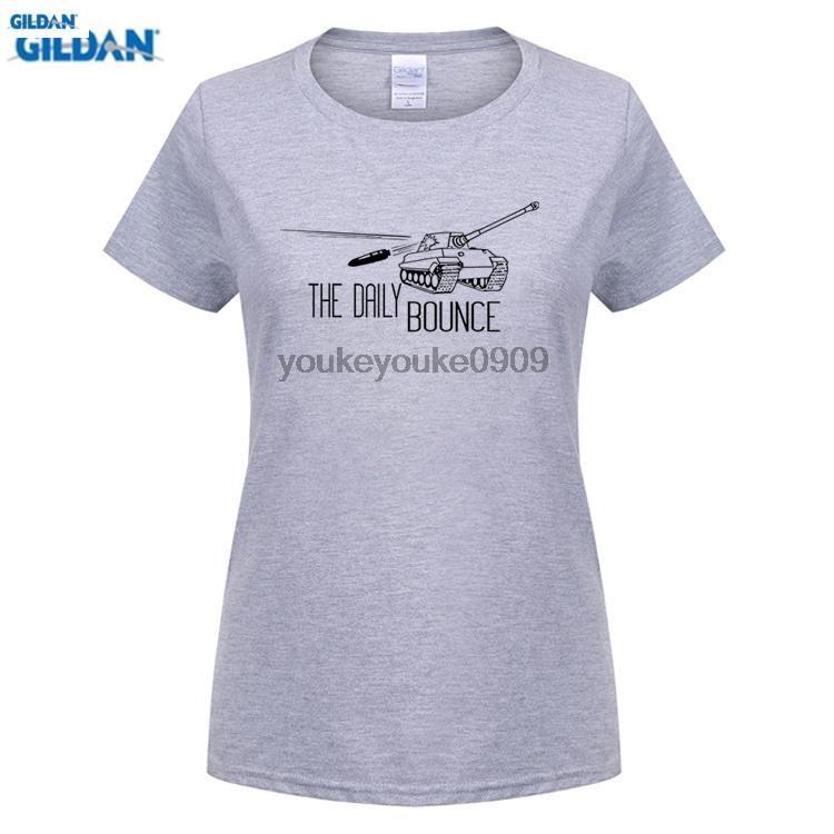 GILDAN World of Tanks women's T Shirt Casual Game T-shirt Summer - US $12.73