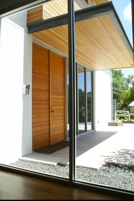 Timber Entry Canopy