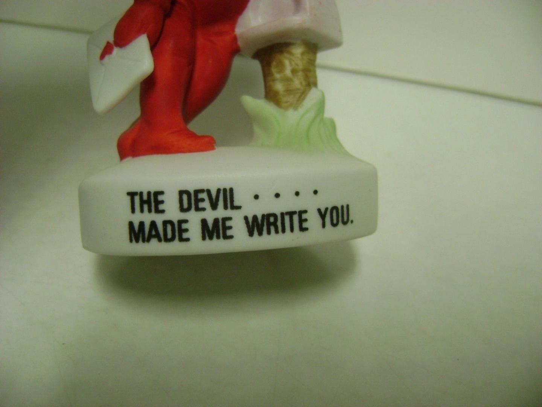 1970s Valentine Devil Little Girl Porcelain Ceramic Figure Devil made me write U (11/20/2016)