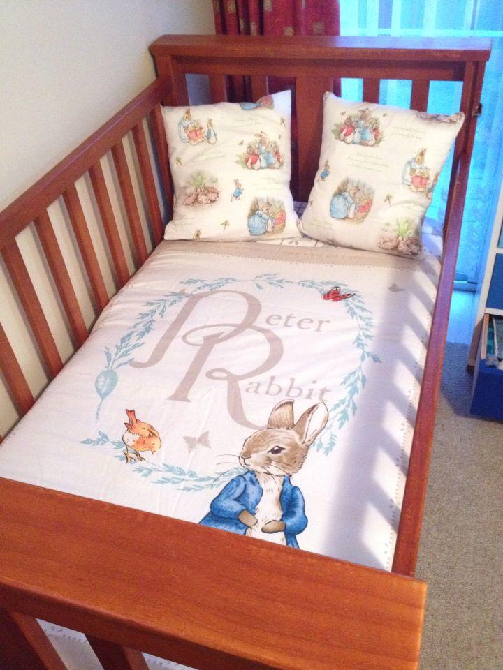 Peter Rabbit Cot Quilt And Pillows Set Storybook Nursery