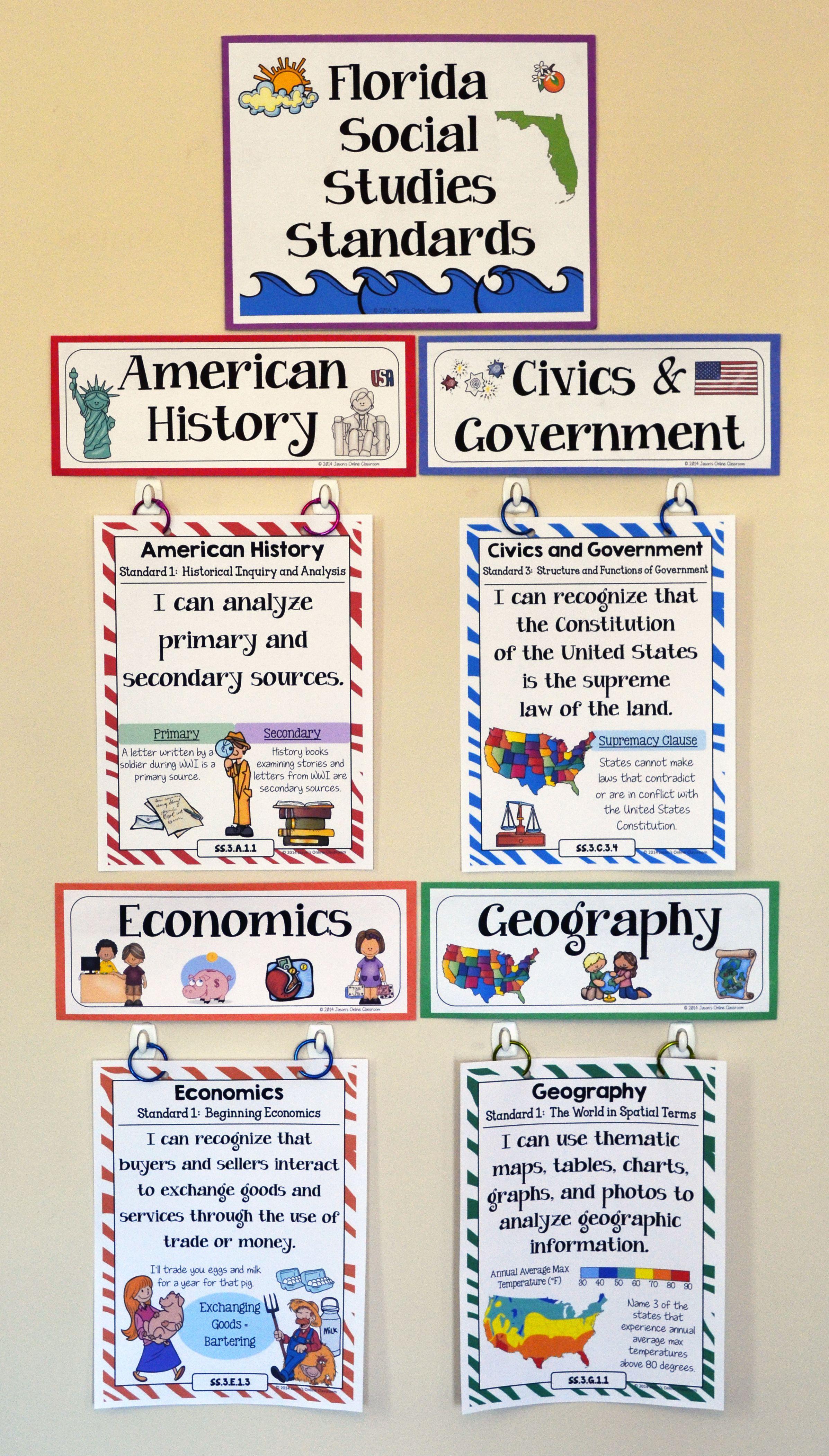hight resolution of Florida Social Studies Standards - 3rd Grade   Social studies