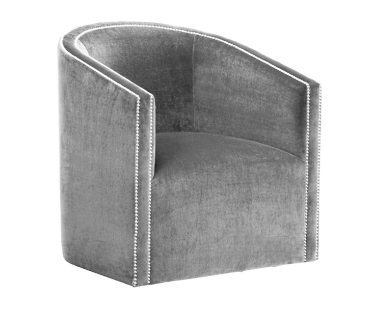 Louise Bradley   Swivel Tub Chair. Louise Bradley Puts A Luxe Spin On A  Classic