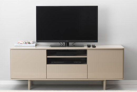 Mostorp Tv Unit Beige High Gloss