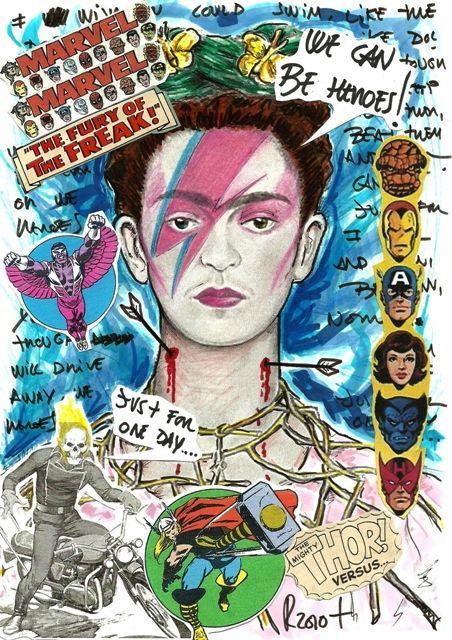 Las Etiquetas Más Populares Para Esta Imagen Incluyen Frida Kahlo David Bowie Y Heroes Art Pop Art Frida Kahlo Art