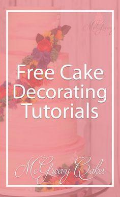 Tons of FREE video tutorials on McGreevyCakes.com! Click through to see them all! #cakedecoratingvideos