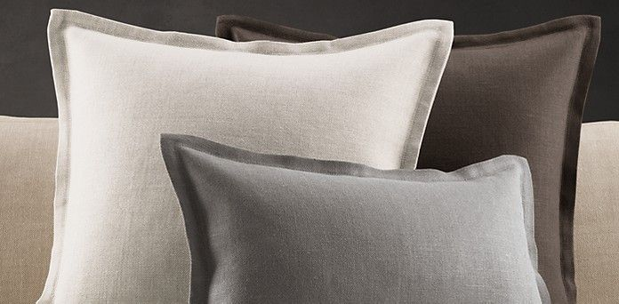 Belgian Linen Pillows | Restoration Hardware