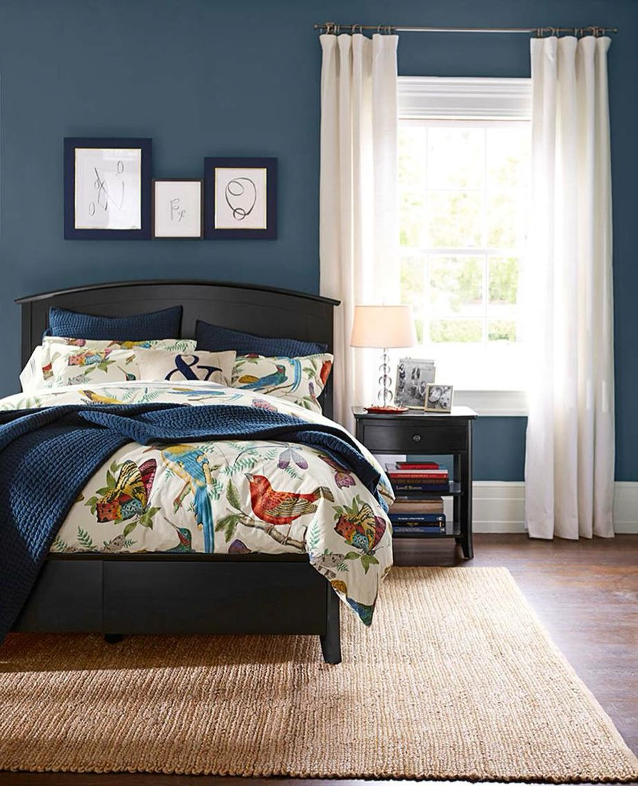 Sherwin williams denim home pinterest bedrooms for Cool blue bedroom ideas