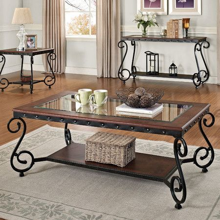 I Pinned This Waneta Coffee Table From The Home Harmony Event At Joss And Main Coffee Table Iron Furniture Coffee Table Setting