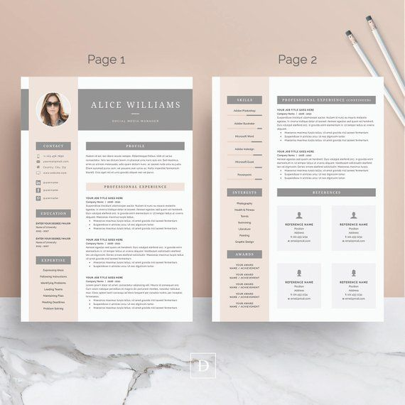 Resume Template 3 page   CV Template + Cover Letter for MS ...
