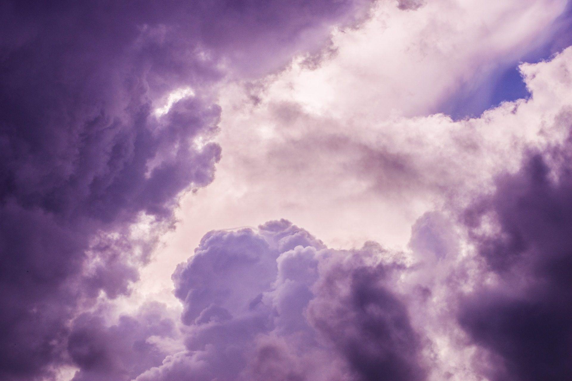 Cielo, Nubes, Moradas, Nublado, Tormenta, 1710112030