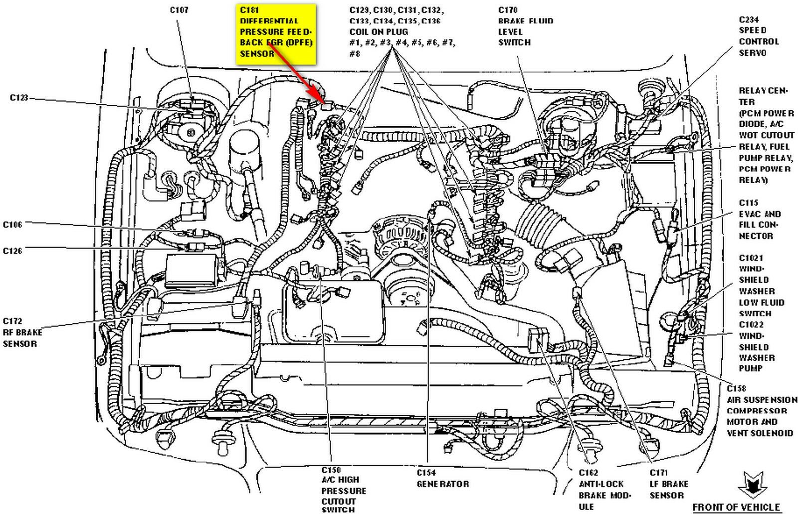 Dpfe Sensor Lincoln Town Car Diagram Serpentine