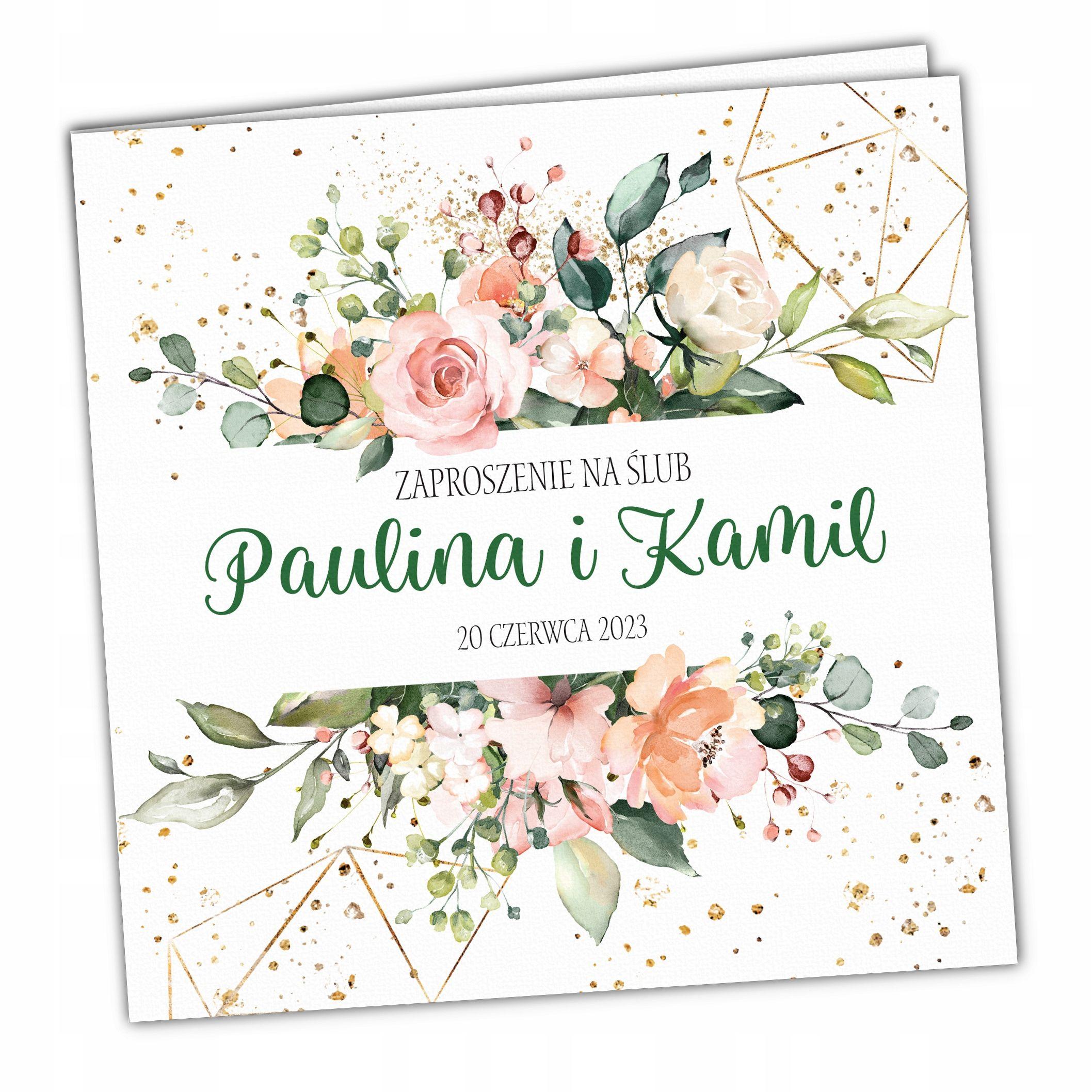 Zaproszenia Slubne Rustykalne Kwiaty Koperta Wedding Invitation Video Wedding Invitations Wedding Cards